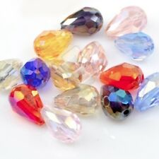 72pcs Crystal Beads Loose Spacer Teardrop Jewelry Findings Assorted Wholesale