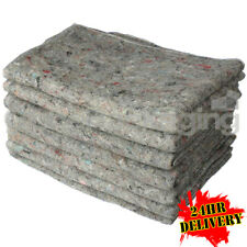 More details for 10 x premium transit woolen fabric removal blankets furniture moving 200x150cm