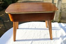 """Vintage """"Morco"""" Sewing Box/Table, Mid Century, Original Interior Upholstery"""