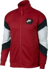 Mens Nike Nsw Air Polyknit Jacket AJ5321-687 Gym Red/White NEW Size S