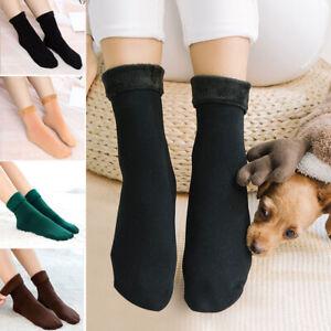 Men Women Winter Plus Velvet Warmer Socks Thicken Thermal Wool Floor Socks Soft