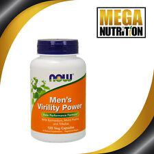 Now Foods Para Hombre Virilidad Energía 120 Cápsulas Veg | Icariin Muira puama Tribulus