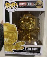 Marvel Studios The First Ten Years Gold Chrome Star Lord Funko Pop Vinyl #353