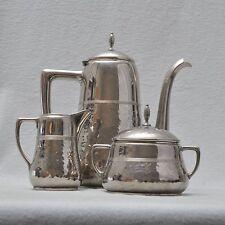 WMF schöner Art Deco Kaffeekern, Kaffeekanne, Milch, Zucker