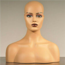 Realistic Women Mannequin Head with Shoulders For Hair Wigs Hats Jewelry Display