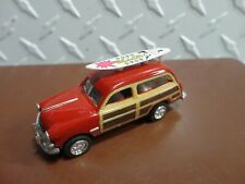 Loose Kinsmart Red 1949 Ford Woody Surf Wagon