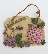 Welcome Decorative Tile Wall Hanger 3D High Relief & Detail Resin