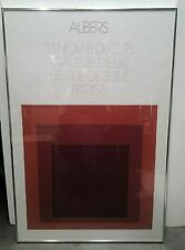 """Josef Albers Homage to the Square: Galerie Melki 1   1973"""" RARE RED COLOR """""""