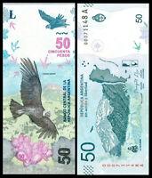 Argentina 50 Pesos ND 2018 New Serie A Condor Andino UNC