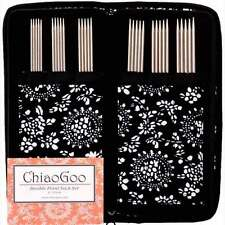 """ChiaoGoo ::Stainless STEEL Double Point Needle Sock Set:: 6 Sizes 0-3 US, 6"""""""