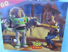 1995 Hasbro Disney's Toy Story Woody and Buzz Light Year 60 Piece Puzzle New