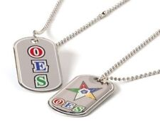 OES Reversible Dog Tag Necklace - Eastern Star