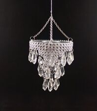 "4"" Acrylic Crystal Chandelier Christmas Hanging Ornament Decor"