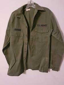 vintage OG-507  green us army shirt m