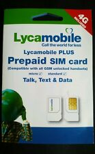 Lycamobile PRELOADED Prefund DUAL SIM Prepaid  FREE 1ST MONTH $35 PLAN Lyca mobi