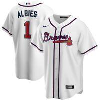Brand New 2020 Atlanta Braves Ozzie Albies #1 Nike Home Replica Team Jersey