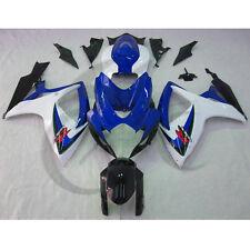 Blue White INJECTION ABS Fairing Fit For SUZUKI GSX-R GSXR 600 750 06-07 K6 15B