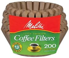 Melitta 8-12 Cup Basket Coffee Filters Paper Natural Brown, 200 Count