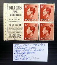 Gb 1936 Ed.Viii - 1½d Advert Booklet Pane U/M Slight Trimmed Perfs Nb3937