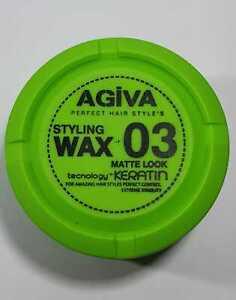AGIVA HAIR STYLING WAX MATTE LOOK + KERATIN NO:3 BARBER SALON PROFESSIONAL USE