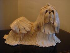 More details for eve pearce hand crafted porcelain g&w shih tzu dog figure figurine ornament rare