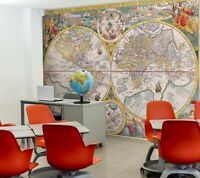 3D Round Animal Map R54 Business Wallpaper Wall Mural Self-adhesive Commerce Zoe