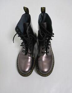Dr. Martens Women's 1460 Pascal Boots Metallic Pewter Size 10 US L
