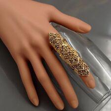 New Gold Plated GP Topaz Crystal Rhinestone Adjustable Fashion Custom ring 00313