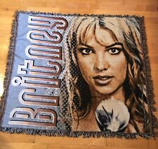 RARE Vintage Acrylic Knitted Britney Spears 2000Tour Throw Blanket Tapestry XL