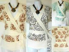V Neck Hip Length Fitted Tops & Shirts Size Petite for Women