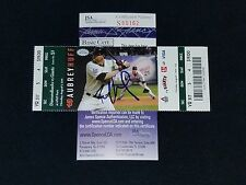 PAUL GOLDSCHMIDT SIGNED MLB DEBUT JSA COA SEASON TICKET STUB 8/1/11