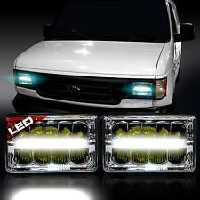 2x LED Headlight Headlamp Upgrade for E-150 E-250 E-350 Econoline Club Wagon