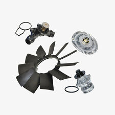 Water Pump + Fan Clutch + Thermostat + Fan Blade Kit BMW E46 3 Series X5 New