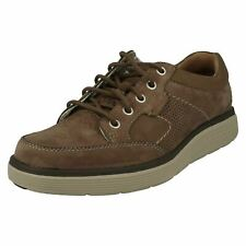 MENS CLARKS UN ABODE LACE UP NUBUCK LIGHTWEIGHT UNSTRUCTURED CASUAL SHOES SIZE