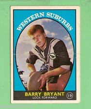 #D126. 1968 SERIES 1 RUGBY LEAGUE CARD #19  BARRY BRYANT, WESTERN SUBURBS