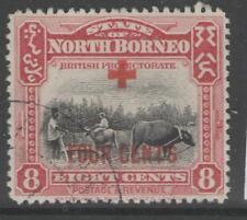 BORNEO DEL NORD sg241 1918 8c+4c LAGO BENE USATO