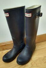 Hunter Ladies Wellies Navy Blue Size UK 5