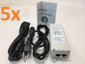 Lot of 5 Shoretel PD-3501G AC 48V 0.35A Gigabit PoE Adapter 3501G 300-1023-03