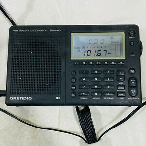 Grundig G5 AM/FM Shortwave Receiver Duel Conversion Radio Stereo & Power Supply