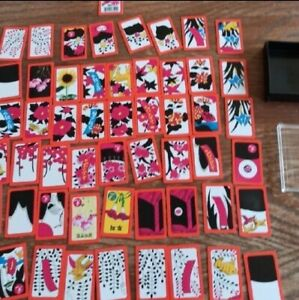 Hanafuda Japanese Flower Cards 1 deck by Unknown, plastic thick cards with case