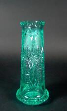wunderschöne Stangenvase  - türkises Kristall  1920