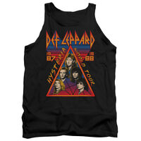 DEF LEPPARD HYSTERIA TOUR Licensed Men's Graphic Band Tank Top Sleeveless SM-2XL