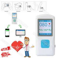 Bluetooth USB Handheld ECG Machine EKG Heart Rate Monitor Electrocardiograph New