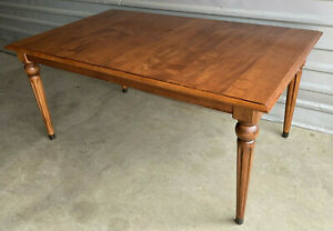 ETHAN ALLEN Country Crossings Dining Table with 2 leaves, in 227 Cinnamon