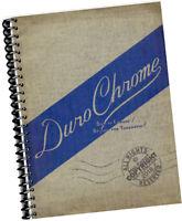 Duro Chrome Built to Endure FURNITURE CATALOGUE 1940s 1950s retro designs Kitsch