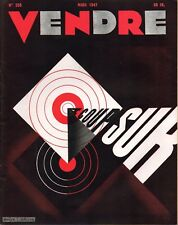 ▬►MARKETING PUBLICITÉ  -- VENDRE N° 205 (MARS 1947) --  COVER ROGER VIDECOCQ