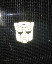 2x Transformers Autobot Style Car Vinyl Stickers Graphic Decal-Reflective White