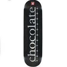 Chocolate 8.5 Inch Raven Tershy Team Stripe Black Skateboard Deck