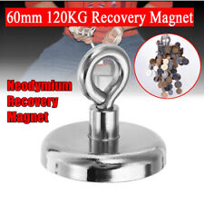 120kg Forte Magnetico Tondo Magnete Neodimio con Gancio Potente Strong
