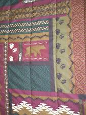 Bed Spread comforter Aztec Tribal Print Hunting Bear Outdoors Queen SZ
